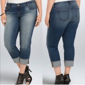 Torrid Frayed Hem Boyfriend Jeans